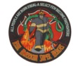 Firefighter super heroes patch - measures 12 x 12