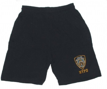 NYPD GYM SHORTS - NYPD insignia embroidered. Elastic waistaband and pockets