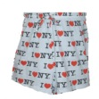 I Love NY Shorts - Drawstring cotton shorts with I Love NY all over