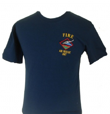 New York's Fire Air rescue t-shirt - Fire Air Rescue Unit emboidered on left chest with helicopter design. Printed back