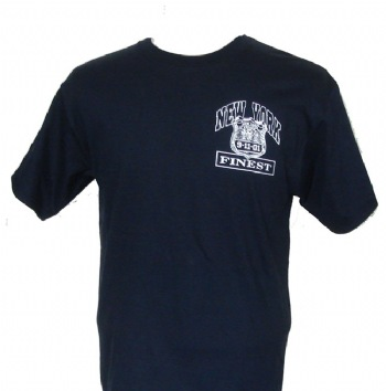 "New York's finest 9/11 ""23"" fallen T-Shirt - New Yorks Finest Those who died on 9/11in the Police force. The fallen ones commemorated on this t-shirt with the names printed on the back. Our own unique design in honour of our heroes"