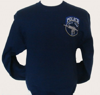 "New York's Police swat team sweatshirt - New york's Police swat team logo embroidered on left chest. Printed back ""new york police swat team"" in white"