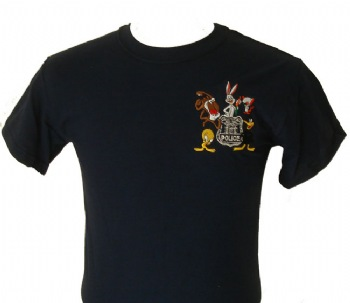 New York's Police Comics character t-shirt - Adorable comic charachters embroidered on left chest with New York's Police shield. Our own unique design