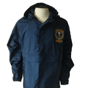 New York's Highway Patrol Presidential Motorcade anorak - Brand new item! Anorak style hooded pullover, windbreaker style. Has pull tabs at the hood and bottom hem of jacket. Also has two side pockets, and one zippered compartment on the front (zipper is hidden)