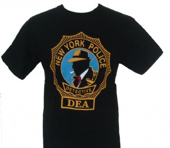 New York Dick Tracy Detective DEA t-shirt -
