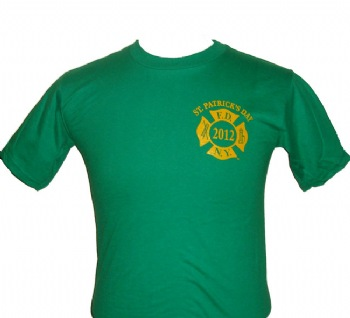 FDNY St. Patricks 2012 Irish T-shirt - FDNY symbol on the left chest. Printed back