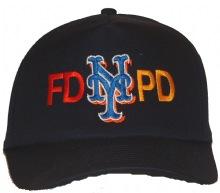 6205fd372b6 FD PD NEW YORK Emboidered Baseball Cap - This quality black FD-PD new york