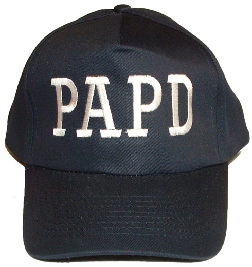 caf2fe8bc PORT AUTHORITY POLICE DEPARTMENT Adult Baseball Cap with White Initials -  WORN B..