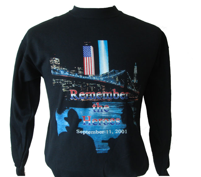 ff23f628 Remember the Heroes 9/11 PD FD Sweatshirt - Our exclusive memorial design.  Feat