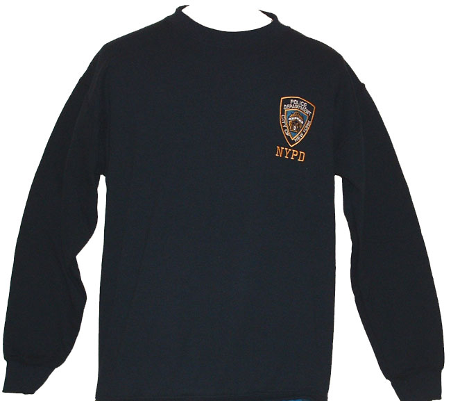 0241a97ab NYPD Embroidered patch Adult Sweatshirt - With an embroidered NYPD patch on  t.