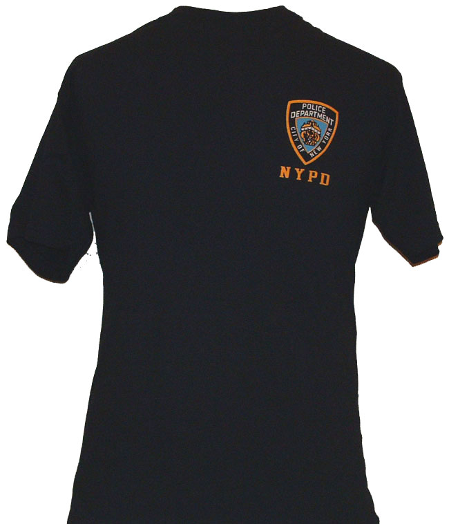 024ae994e NYPD EMBROIDERED T-Shirt - VERY POPULAR AMONG THE NYPD OFFICER