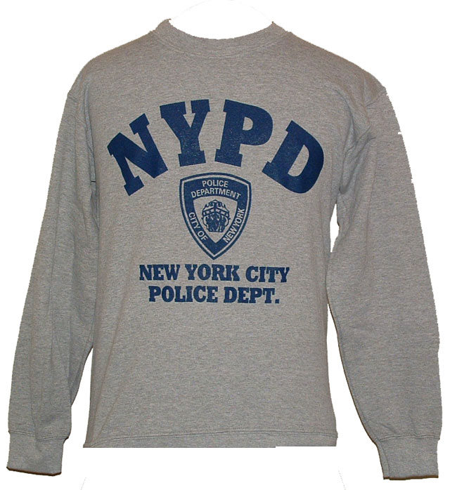 a375b34f7 NYPD gym Sweatshirt - Warm and comfortable, this heather gray NYPD  sweatshirt f.
