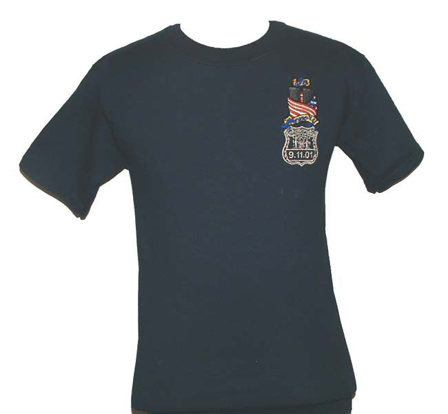 BLACK RED TOWERS  LICENSED SHIRT New FIREFIGHTER T SHIRT 9//11  TRIBUTE HEROES