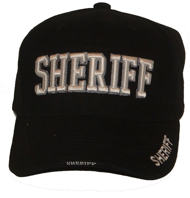 1244139944b80 Sheriff 3D EMBROIDERED CAP - Sheriff embroidered in 3-D on cap