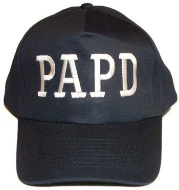 384052b1e PORT AUTHORITY POLICE DEPARTMENT Adult Baseball Cap with White Initials