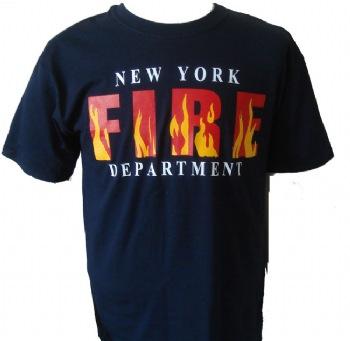 New york 39 s fire department flames t shirt for Fire department tee shirt designs